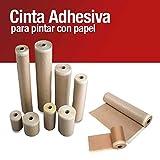 Pack x6 Cinta Adhesivo Krepp Con Papel para pintor,Cinta Pintor Carrocero...