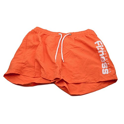 Arcweg Costumi Da Bagno Uomo/Ragazzi Asciugatura Veloce Pantaloncini Da Bagno Con Tasche Laterali Monocromo Shorts Da Mare Estate Sport Acquatici Boardshorts |bambini dai 13 anni|Taglia 36-46 Arancione