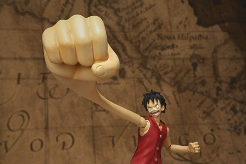 One Piece Bandai S.H. Figuarts 6 Inch Super Articulated Figure Monkey D. Luffy (japan import) 8