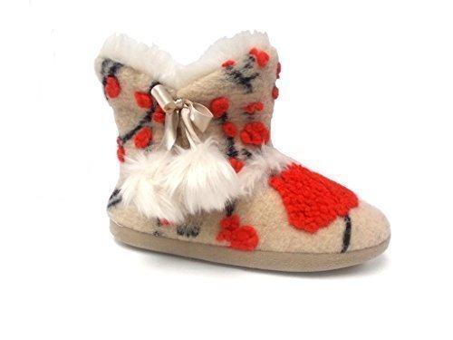 Calde Da Donna Dunlop Pantofole Crema