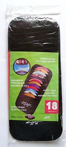 Preisvergleich Produktbild CD-Schutzhülle Organizer f. 18 CD DVD Halter KFZ Auto Aufbewahrung Sonnenblende Tasche