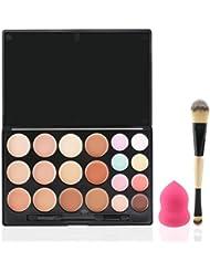 RUIMIO Juego de Contorno Paleta de 20 Colores de Contorno y de Resaltar con Aplicadores de Maquillaje, Beauty Blender