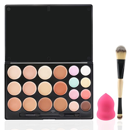 RUIMIO Konturen Palette Make Up Palette Hervorhebungen Cream Konturen Kit inkl. Blender und Pinsel - 20 Farben Highlight Und Kontur-make-up-set