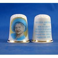 Porcelaine souvenir 100th Birthday dé Reine Mère