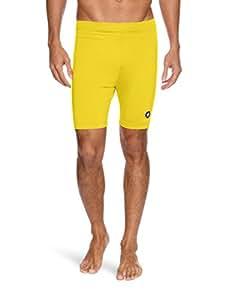 Mitre Men's Marino Prostar Compression Base Layer Shorts, Yellow, X-Small