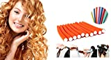 Ekan 10 Pcs Hair Curling Flexi Rods Hair Roller Curler Random Color Soft