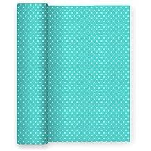 Mantel de papel para fiesta con decorado de Estrellas Aguamarina - 1,2 x 5 m