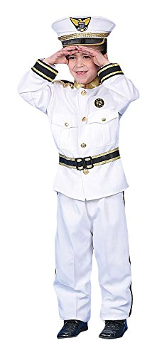 Dress up America Toddler T2 Deluxe Navy Admiral Costume Set