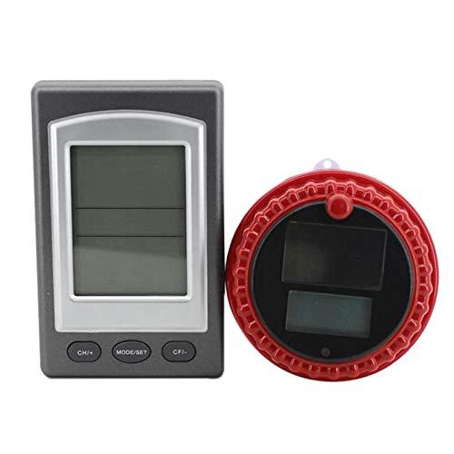 Cikuso Termometro per Piscina Solare Senza Fili Digitale in Piscina per Piscina All'aperto Vasca Idromassaggio per Piscina Floating Retroilluminato Sensore di Temperatura Impermeabile