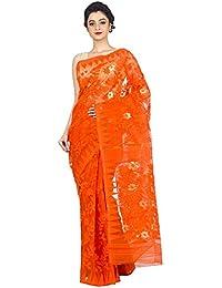 tjsarees Saree (Orangedhakai_Orange_Free Size)