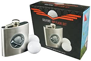 Longridge Set flasque golfeur Argent