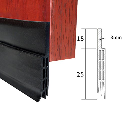 Lvguang Junta Adhesiva para Puerta para Sellar Burlete a Prueba de Polvo Aislamiento Acústico Negro # 1 100 * 4 * 0.5 cm