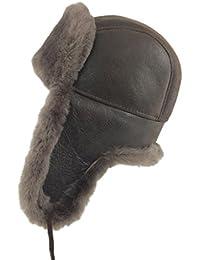 Zavelio Gorro de piel de oveja, unisex, estilo aviador ruso, otoño-invierno 10, color Kaschmir, tamaño L