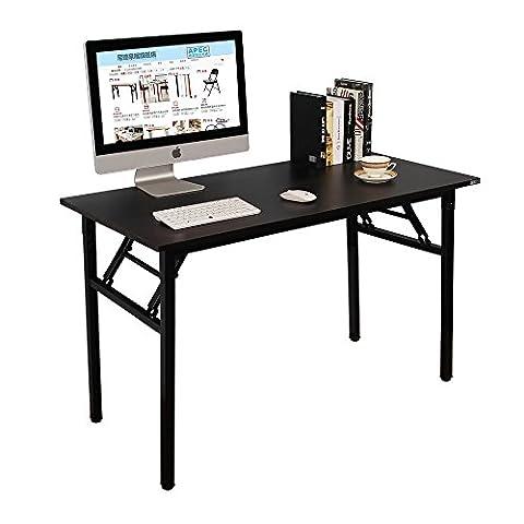 Need Bureau 120x60cm Table traiteur pliante Table Informatique Table buffet camping pliable Bureau de réception, Noir