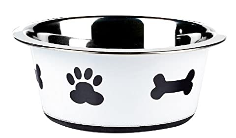 Classic Pet Products Classic Posh Paws Dish, 900 ml, White