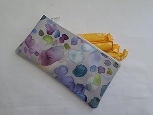 Handmade Oilcloth Tampon Case Holder - Voyage Damson Sprinkles Fabric