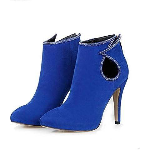 Ms. autunno e in inverno gli stivali sottolineato spillo smerigliato