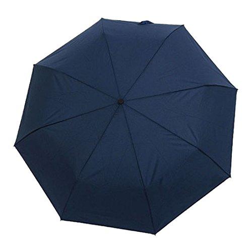 FakeFace Damen Herren Fashion Faltbarer Regenschirm UV-Schutz Sonnenschirm Folding Umbrella Windproof Taschenschirm Mini Schirm mit Auf-zu-Automatik für Alltag Outdoor Ausflug Camping Reise (Blau)