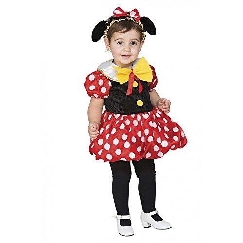 Kostüme Minie Mouse (Kostüm kleine Maus Gr. 80/86 Mädchen Kleid Kinderfasching Karneval)