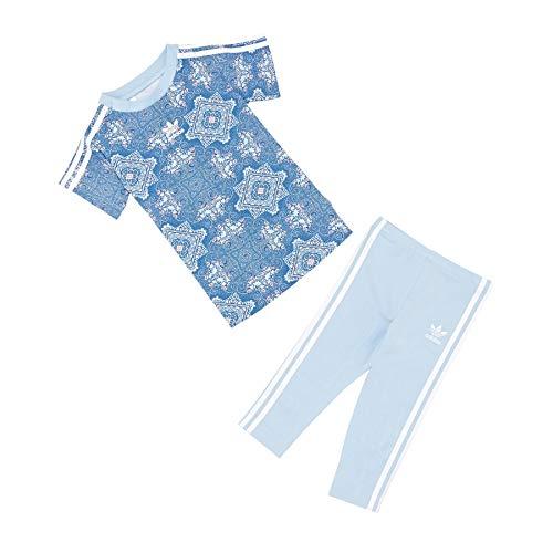 adidas Originals Culture Clash Dress Set Baby Short Sleeve T-Shirt 9-12 Months Multicolour Clear Sky White Baby Snap T-shirt