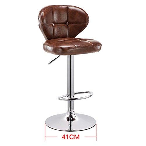 Chaise à gaz Chaise à récurer Tabouret à Dossier réglable Chaise à Manger Style européen Rotate Barstool LI Jing Shop (Couleur : Brown)