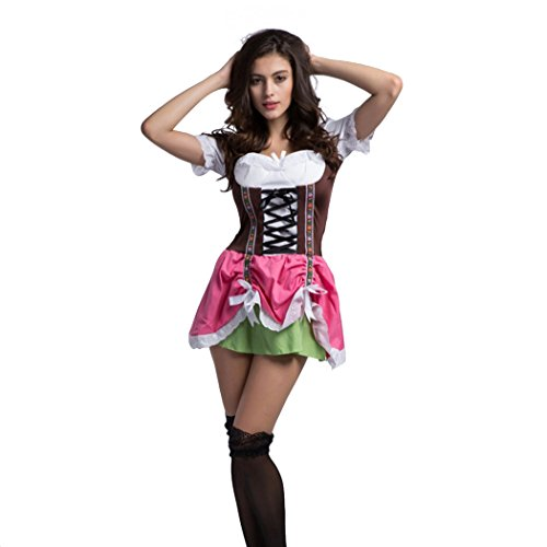 Deutsches Bier Beer-Oktoberfest-Maiden-Waitress Wench Halloween Kostüm (Bier Wench Halloween Kostüme)
