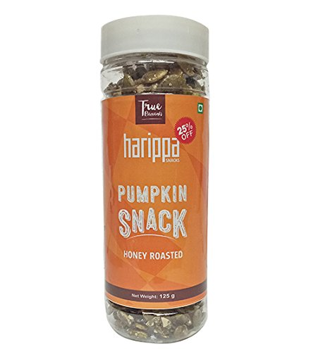 Harippa Roasted Pumpkin Seeds Snack (Honey Coated), 125gm by True Elements  available at amazon for Rs.120