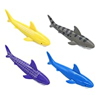 yoptote Torpedo Diving Toys Swimming Pool Dive Sticks Shark Rocket Shape Underwater Diving Toys Swimming Summer Game for Kids 6+ Years Old