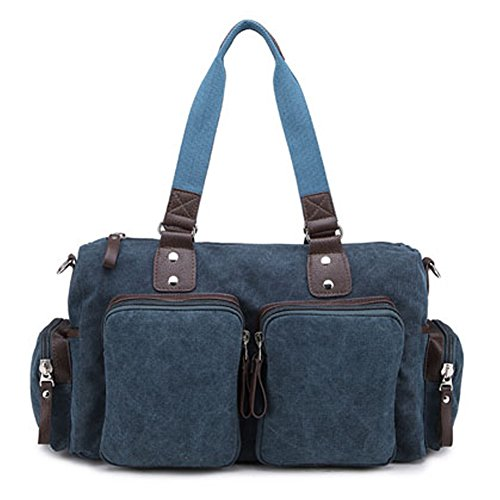 Outdoor Picco Unisex Canvas Vintage Retro Day Bag Tracolla Borsa Daypacks Messenger Bag Messenger Borse Leisure Bag Travel Bag Zainetto Blue1