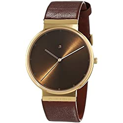 Jacob Jensen Unisex-Adult Quartz Watch, Analogue Classic Display and Leather Strap JJ844