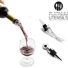 Platinum Utensilios mejor Juego de Aireador de vino con tapón de botella de vino, Set de regalo perfecto para todos los amantes, sistema de aireación decantador de vino, vertedor Impresionante de calidad para mejorar su experiencia potable