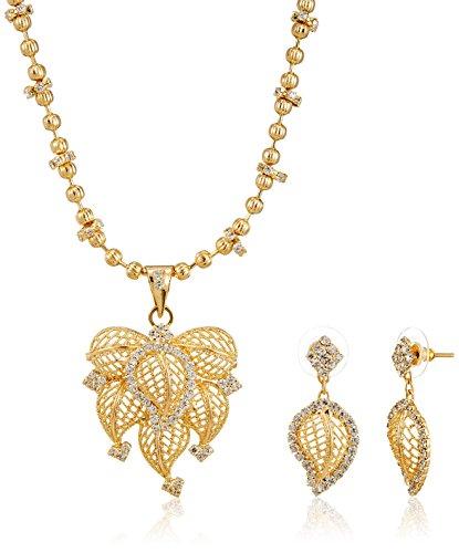 Ava Jewellery Set for Women (Gold) (S-VS-2246)