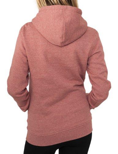 Urban Classics Damen Sweatshirt Bekleidung Ladies Melange Hoody Ruby
