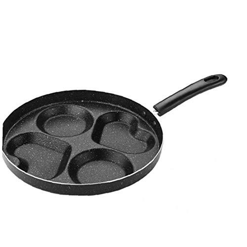 OnsinicFour buche Frittata Pan per le uova Ham crêpière padelle creativo antiaderente No Oil-fumo colazione Grill Pan pentola di cottura