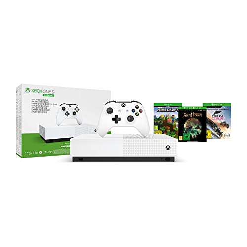Microsoft Xbox One S all-Digital Edition Maverick 1TB incl. 3 Spielen