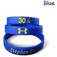 Lorh's store NBA Basketball Stephen Curry Armband Silikon Sport Armband für Fans 3 Pcs