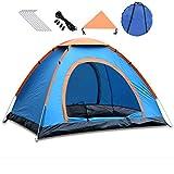 Tende da Campeggio Automatiche all'aperto, Doppie Persone, Tende Portatili a Doppia Porta, Tende da Campeggio a 3-4 Persone a Lancio Manuale (blu200x200x130cm)