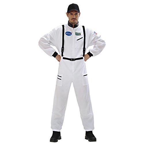 Astronauten Kostüm Weltraum Astronautenanzug L 52 Astronaut Spaceman Herrenkostüm Space Faschingskostüm Overall Astronautenkostüm Weltall Weltraumfahrer Verkleidung Karnevalskostüme Herren Ganzkörper (Spaceman Anzug Kostüme)
