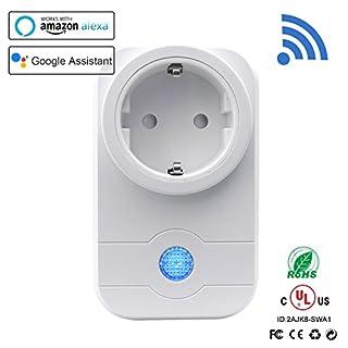Smart Steckdose,StillCool Wifi Wireless Smart Switch Socket Timing Funktion mit Home Automatische APP für IOS und Android Smartphones, Kompatibel mit Amazon Alexa & Google Home (Weiß)
