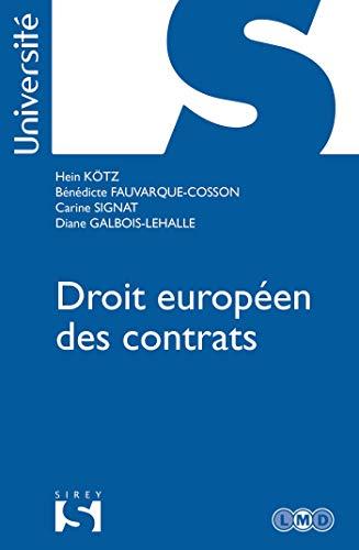 Droit européen des contrats par Hein Kötz