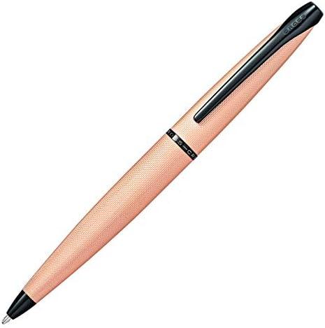 A. T. Cross penna penna penna a sfera cross ATX rosa oro con gefraestem modello di diamante, in confezione regalo | Forte calore e resistenza all'abrasione  | Servizio durevole  | Nuovo mercato  806999