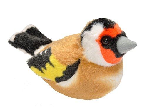 Wild Republic 1948613-16cm, con cantos de pájaros Real peluche Jilguero