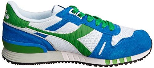 Diadora Unisex-Erwachsene Titan Ii Sneaker Multicolore (C0814 Bianco/Smeraldo)
