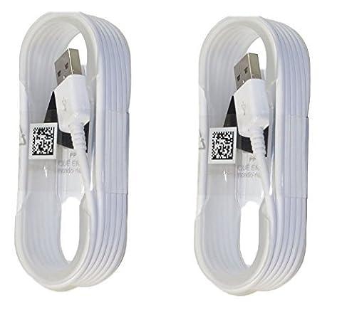 Deux (2) Nouveau Samsung Rouleau d'origine Micro USB de synchronisation de données Câbles de charge pour Galaxy S6/S6Edge/S6Edge +/S7/S7Edge/Note 4/5/Edge–Emballage
