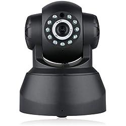 GYGUYHIHY 1080P Caméra De Sécurité ONVIF sans Fil avec Contrôle Panoramique Et Inclinable 10 M Vision Nocturne Support P2P Détection De Mouvement avec E-Mail Push/Audio Bidirectionnel (Noir)