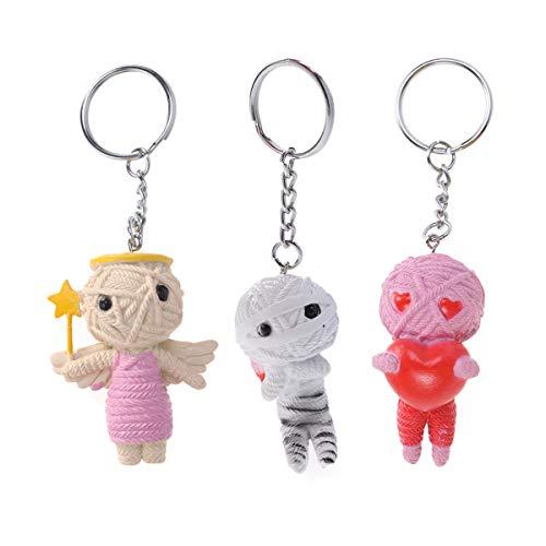 odoo String Puppe Keychain kreative schlüsselanhänger Gummi hängenden Spielzeug Halloween Weihnachten Geburtstagsgeschenk für Freunde Kinder ()