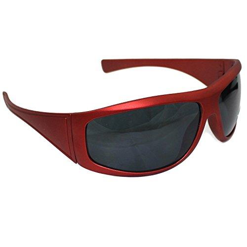 unisex-metallic-finish-frame-curved-shape-sunglasses-uv400-protection-retro-look-red