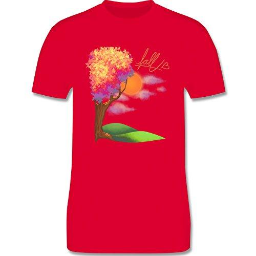 Statement Shirts - Herbst - Fall love - Herren Premium T-Shirt Rot