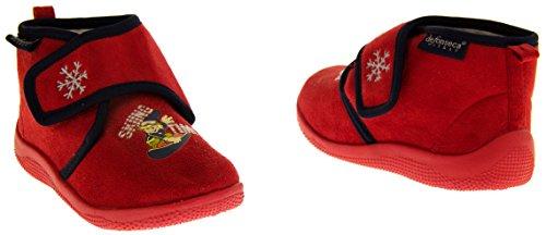 De Fonseca Poloski Sangle Velcro Pantoufles Bottes Garçons Rouge