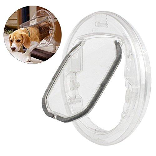 Xianheng Puerta para Gatos Perros Pequeños de Diseño Magnética con Interruptor Giratorio Gatera Transparente Durable